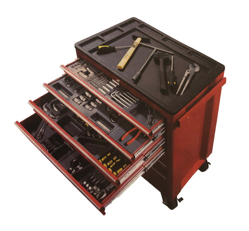 Big Red Roller Cabinet With Imperial Tools