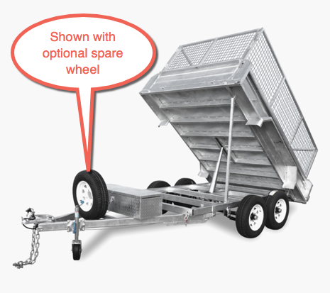 Findlay 10 x 5 Hydraulic Tipping Trailer