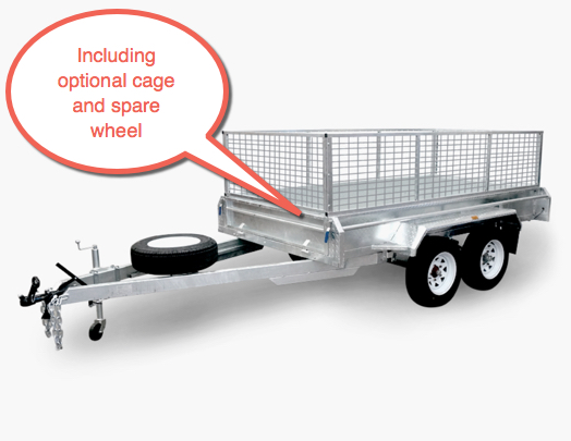 Findlay 10 x 6 tandem trailer