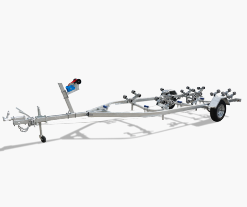5.5 Metre Wobble Roller Type Boat Trailer