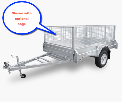 Stonegate fully welded 7 x 5 box trailer