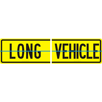 Long Vehicle Sign 600 x 300 Alloy Plate Hinged