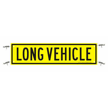 Long Vehicle Sign 1200 x 300 Reflective Banner
