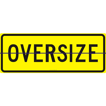 Oversize Sign 1200 x 450 Alloy Plate Hinged