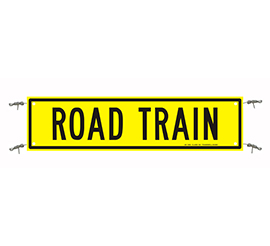 Road Train Sign Reflective Banner